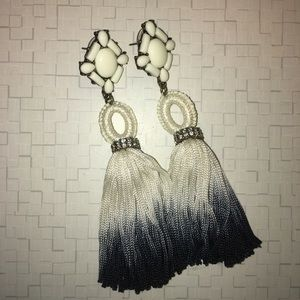 Bauble Bar Statement Tassel Earrings